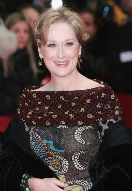 "Meryl Streep at the premiere of ""A Prairie Home Companion"" in Berlin, Germany."