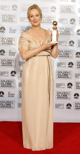Meryl Street at the 64th Annual Golden Globe Awards in Beverly Hills.