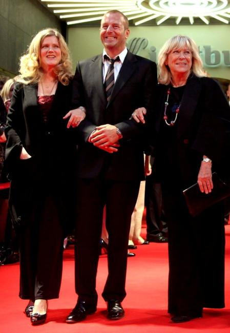 Barbara Sukowa, Heino Ferch and Margarethe von Trotta at the premiere of