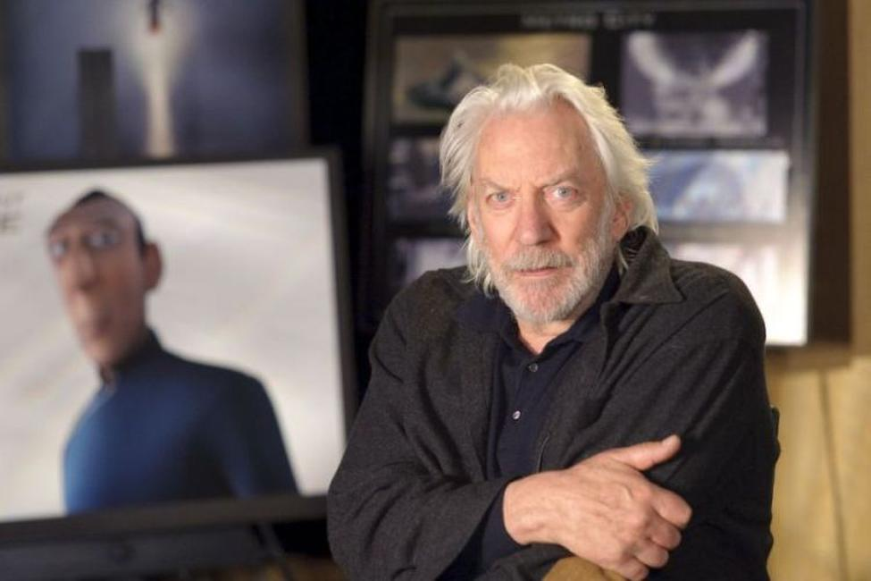 Donald Sutherland on the set of