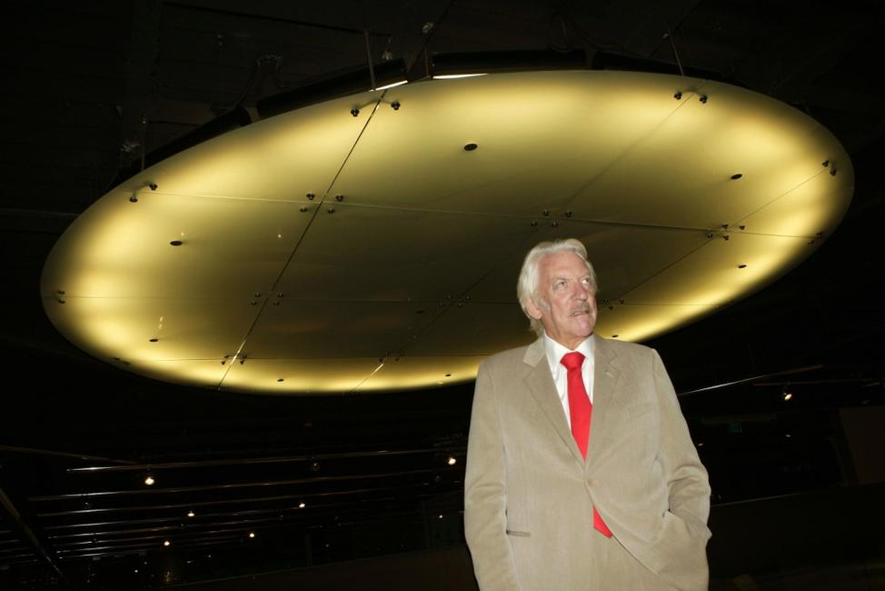 Donald Sutherland at the premiere of Autonomous Picture's