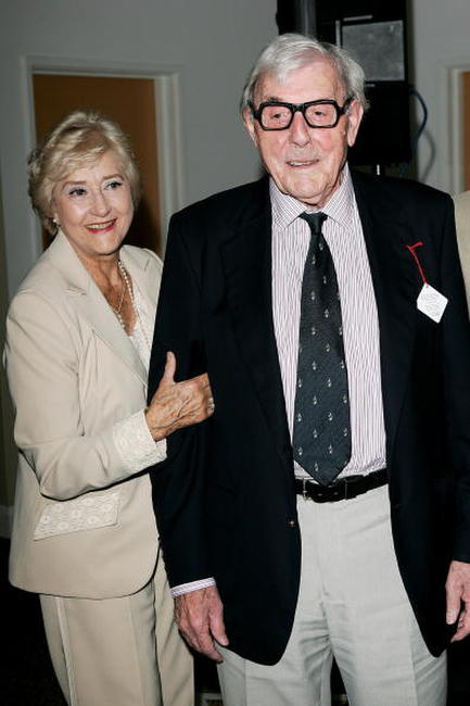 Liz Fraser and Eric Sykes at the 49th Variety Club Race Day.
