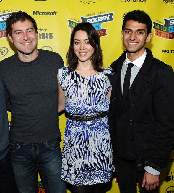 Mark Duplass, Aubrey Plaza and Karan Soni at the premiere of
