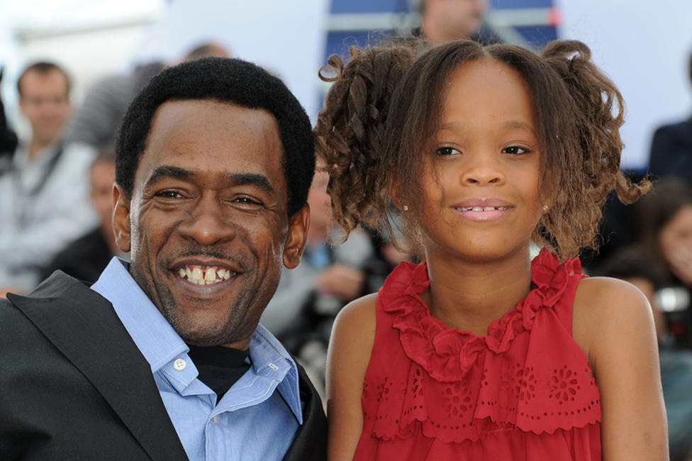 Dwight Henry and Quvenzhane Wallis at the photocall of