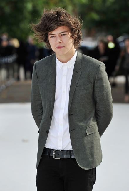 Harry Styles at the Burberry Spring Summer 2013 Womenswear Show in London.