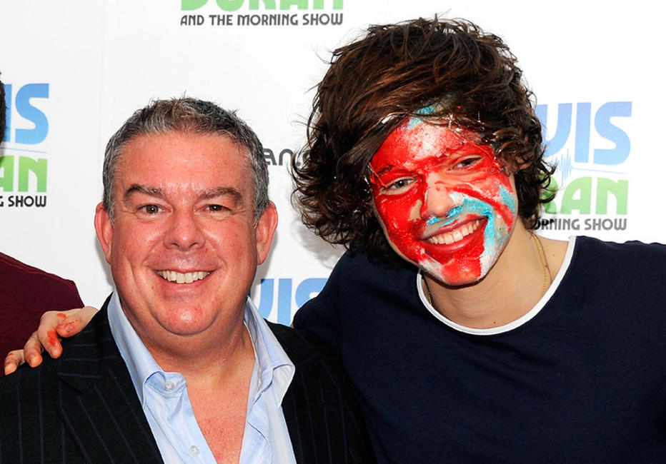 Elvis Duran and Harry Styles at the Elvis Duran Z100 Morning Show in New York.