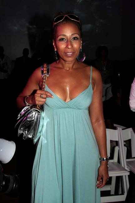 Tamara Tunie at the B Michael Spring 2009 fashion show during the Mercedes-Benz Fashion Week.