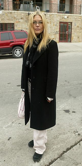 Deborah Kara Unger at the 2004 Sundance Film Festival.