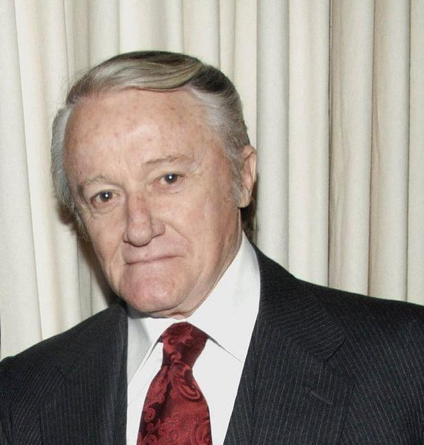 Robert Vaughn at the celebration of Golden Globe Nomination For
