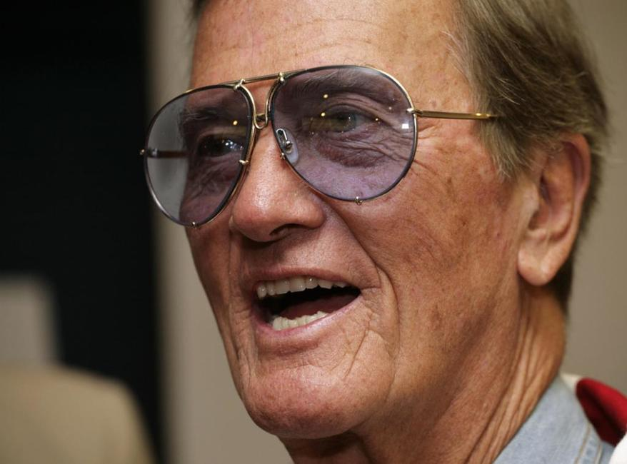 Pat Boone for a news conference at the National Press Club.