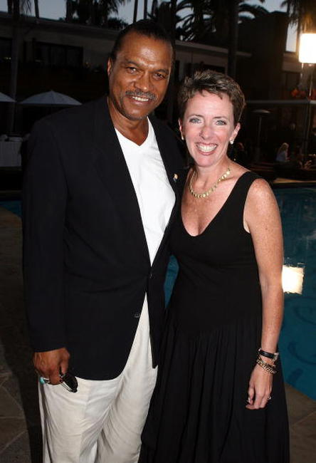 Billy Dee Williams and Darlene Daggett at the celebration of