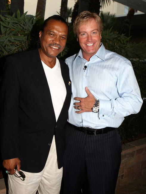 Billy Dee Williams and Rick Domeier at the celebration of