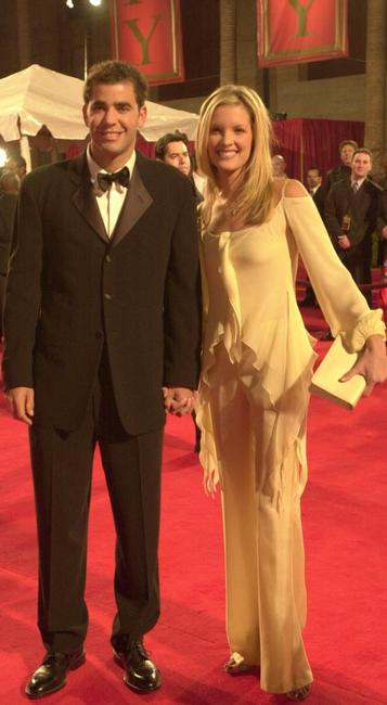 Pete Sampras and Bridgette Wilson at the Red Carpet arrivals for the ESPY Awards.