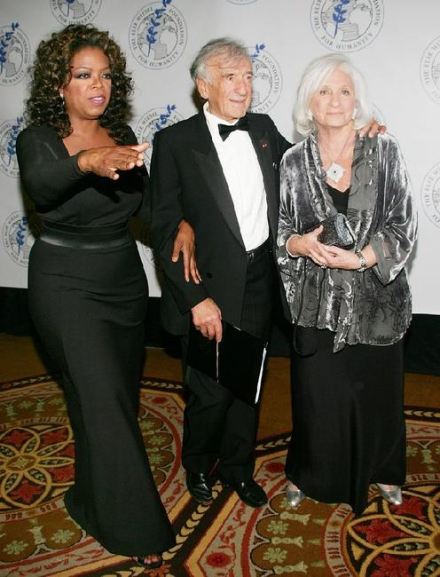 Oprah Winfrey, Elie Wiesel and Marion at the Waldorf-Astoria for Humanity Award Dinner.