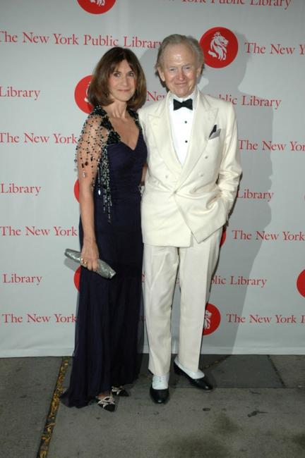 Sheila Wolfe and Tom Wolfe at the New York Public Library's 2007 Lions Benefit.