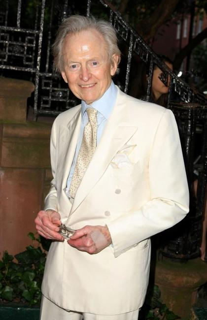 Tom Wolfe at the reception of