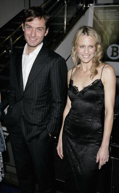 Costars Jude Law and Robin Wright Penn at The Times BFI 50th London Film Festival screening of
