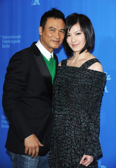 Simon Yam and Kelly Lin at the Photocall of
