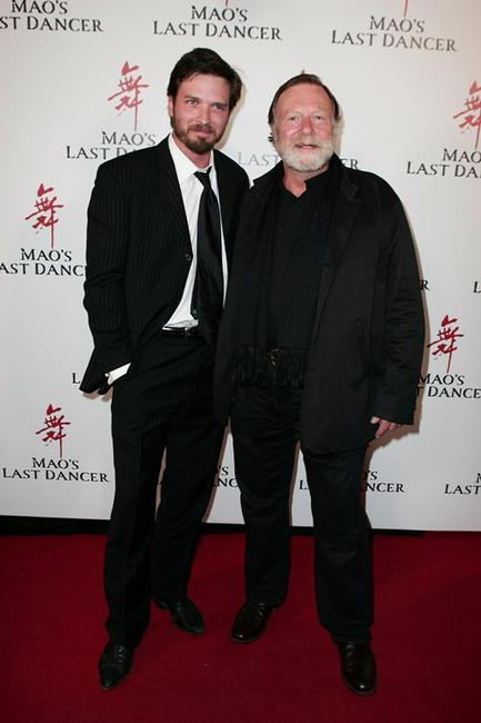 Aden Young and Jack Thompson at the Sydney premiere of