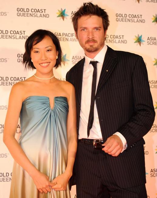 Gina Kim and Aden Young at the Asia Pacific Screen Awards 2009.