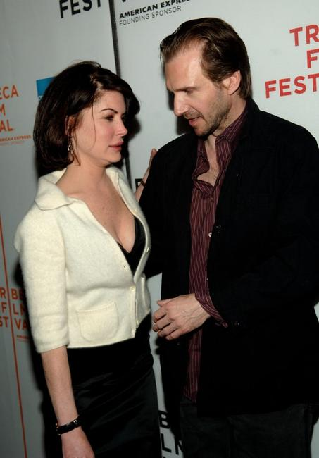 Lara Flynn Boyle and Ralph Fiennes at the 5th Annual Tribeca Film Festival, for the premiere of