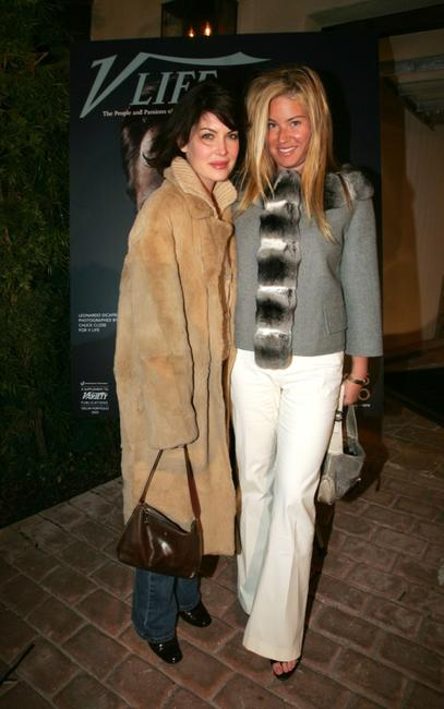 Lara Flynn Boyle and Lara Shriftman at the V-Life Oscar Party.