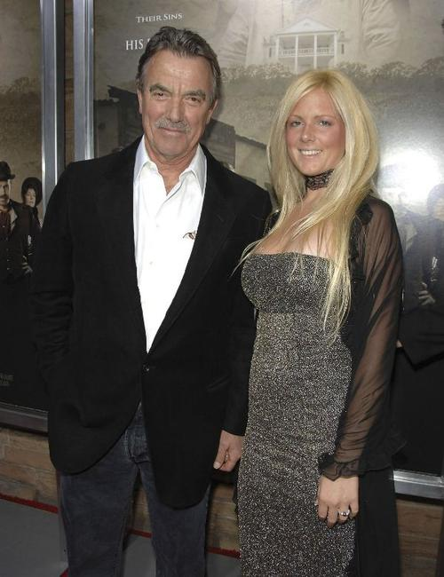 Eric Braeden and Natasha at the premiere of
