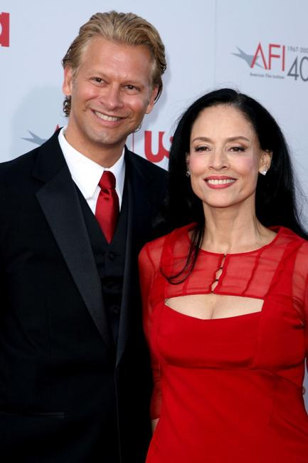 Sonia Braga and guest at the 35th AFI Life Achievement Award tribute to Al Pacino.