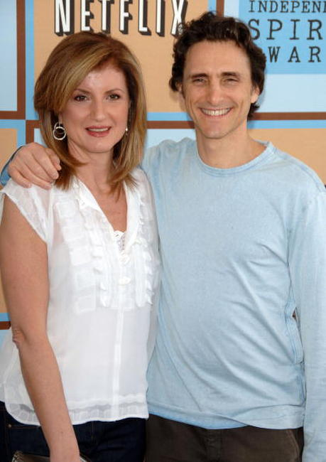 Lawrence Bender and Arianna Huffington at the Film Independent's 2006 Independent Spirit Awards.