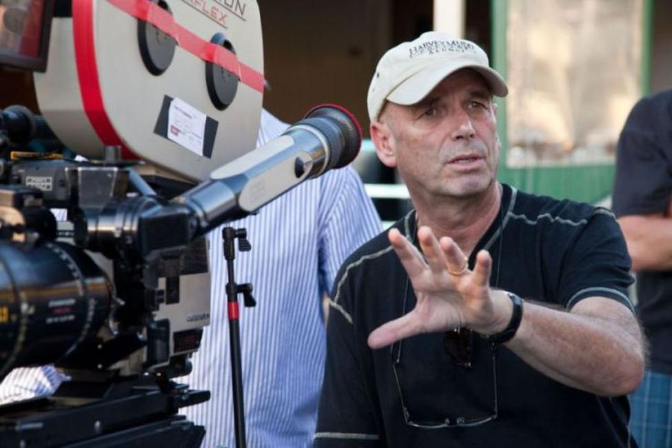Martin Campbell on the set of