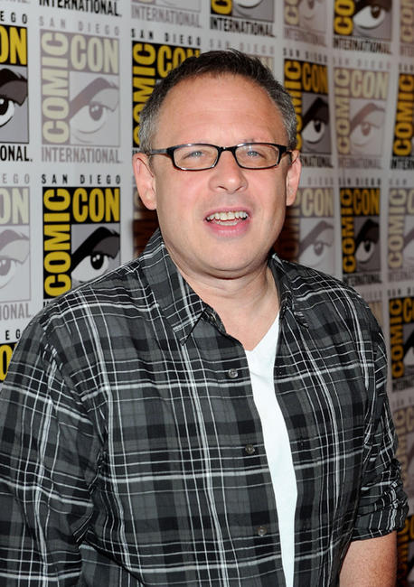 Bill Condon at the press line of