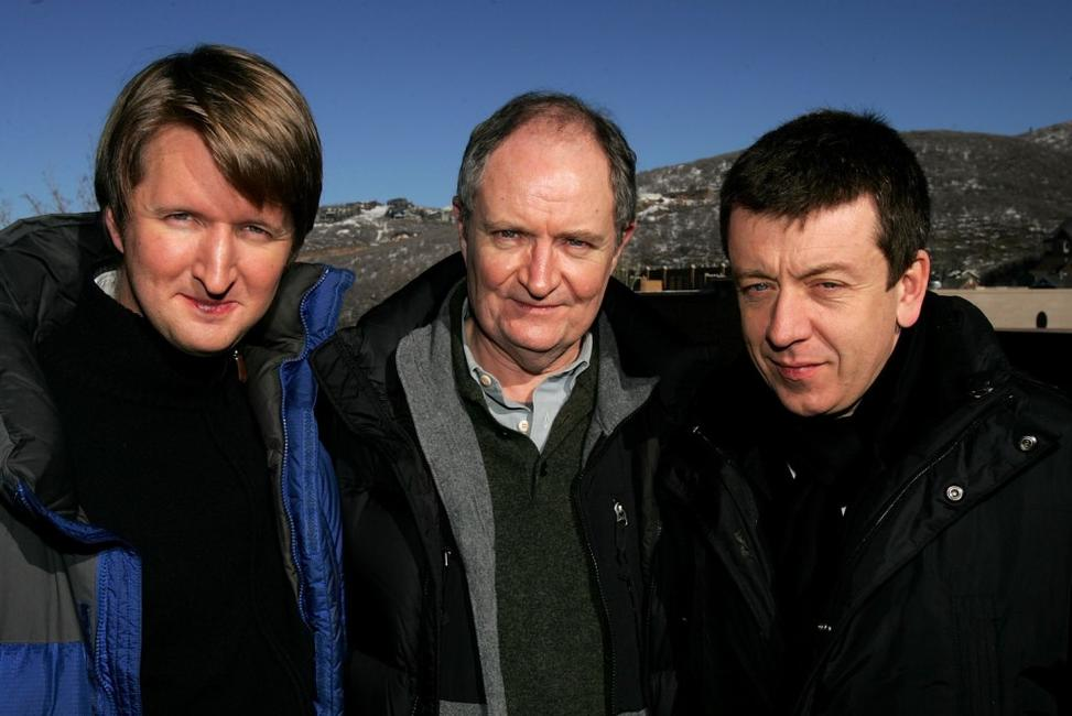 Jim Broadbent, Tom Hooper and Peter Morgan at the 2007 Sundance Film Festival.