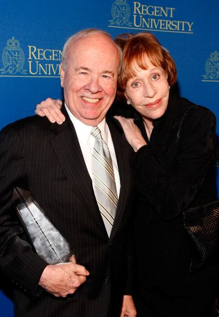Tim Conway and Carol Burnett at the Regent University's School of Communication and the Arts 2nd Annual Candlelight Forum.