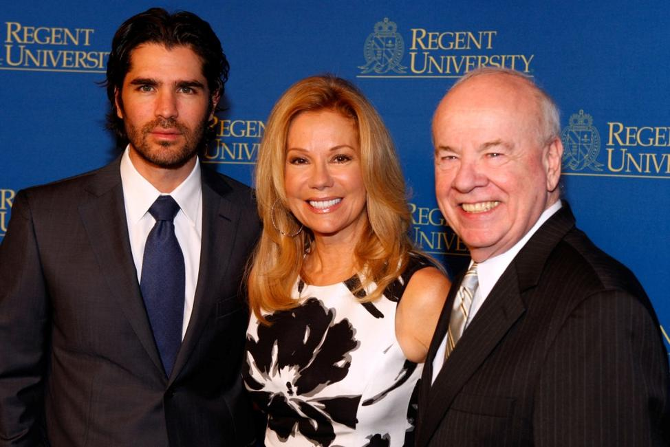 Eduardo Verastegui, Kathie Lee Gifford and Tim Conway at the Regent University's School of Communication and the Arts 2nd Annual Candlelight Forum.