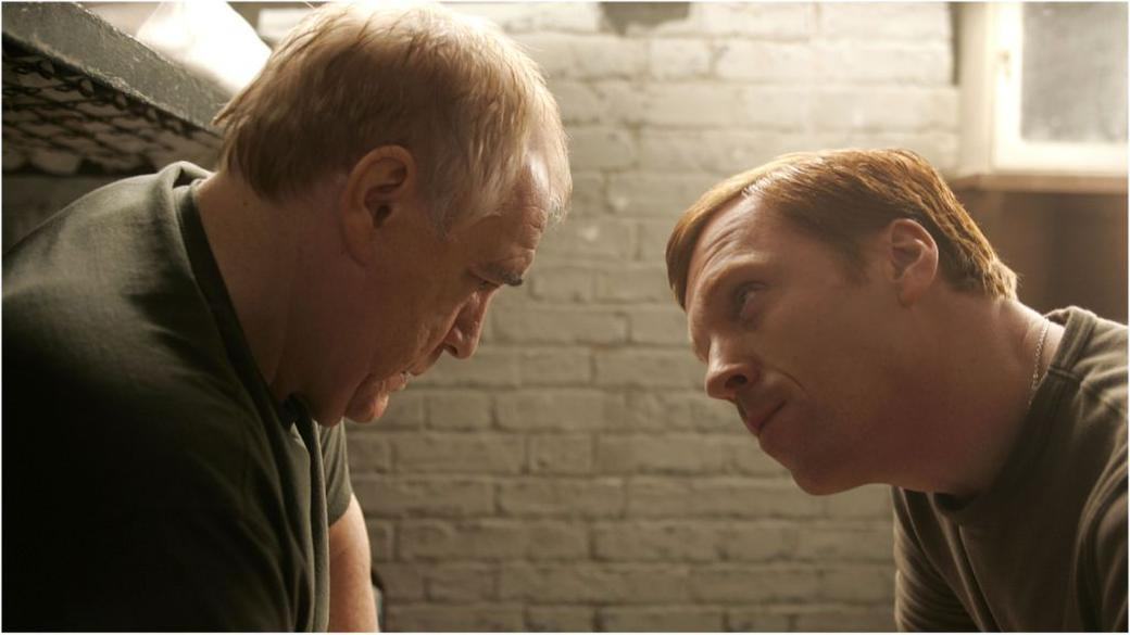 Brian Cox as Frank Perry and Damian Lewis as Rizza in