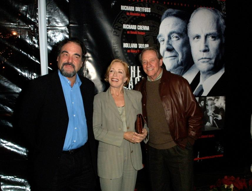 Director Oliver Stone, Holland Taylor and Richard Crenna at the premiere of