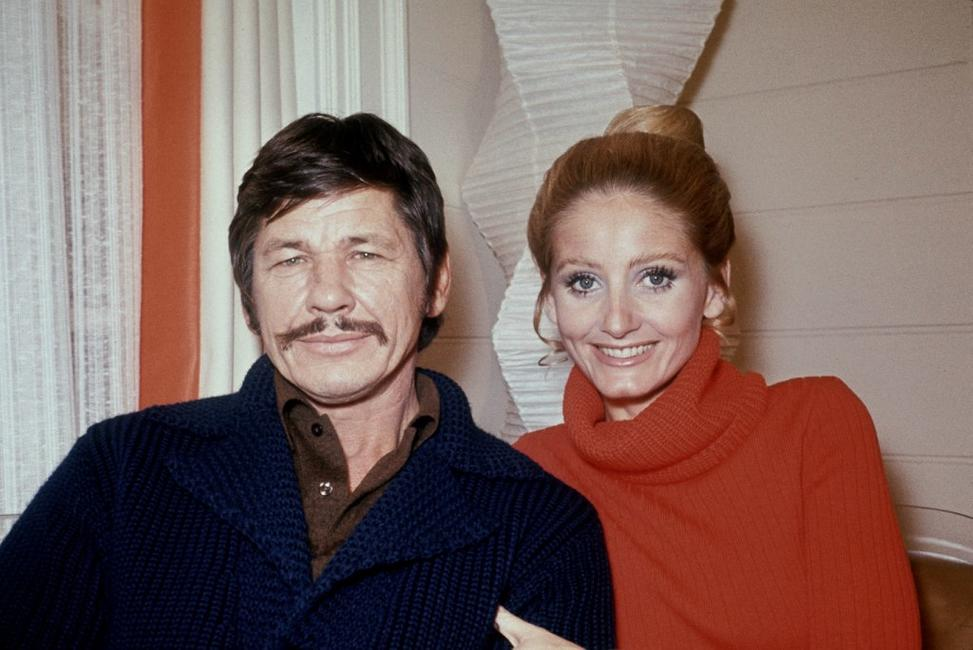 Picture dated November 1970 of US actor Charles Bronson and his wife Jill Ireland.