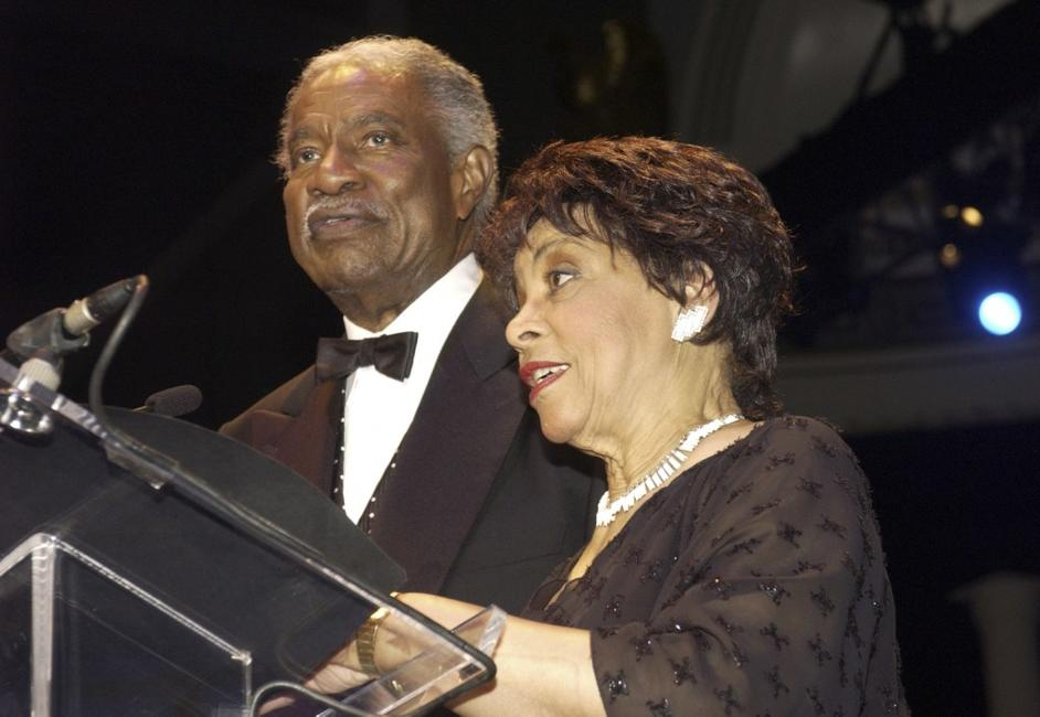 Ossie Davis and Ruby Dee at the Brown v. Board of Education 50th Anniversary Gala.