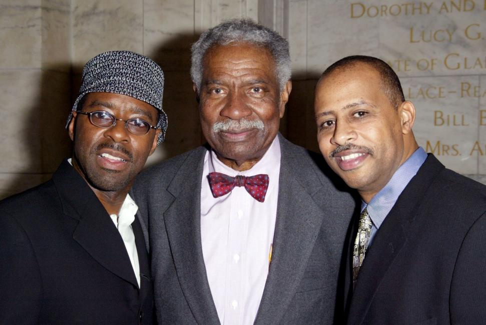 Ossie Davis, Courtney B. Vance and Ruben Santiago-Hudson at the Premiere of