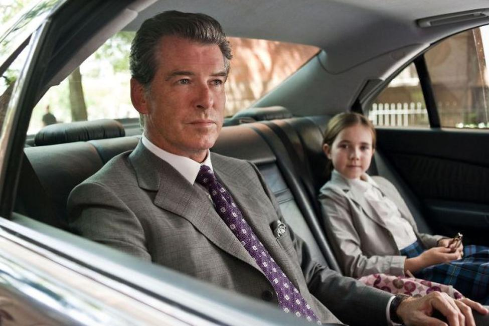 Pierce Brosnan and Ruby Jerins in