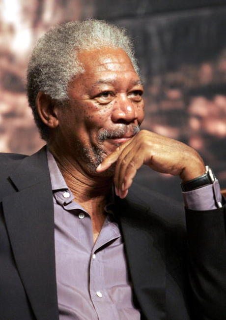 Actor Morgan Freeman at a press conference to promote