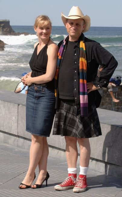 Melinda Page Hamilton and Bobcat Goldthwait at the photocall of