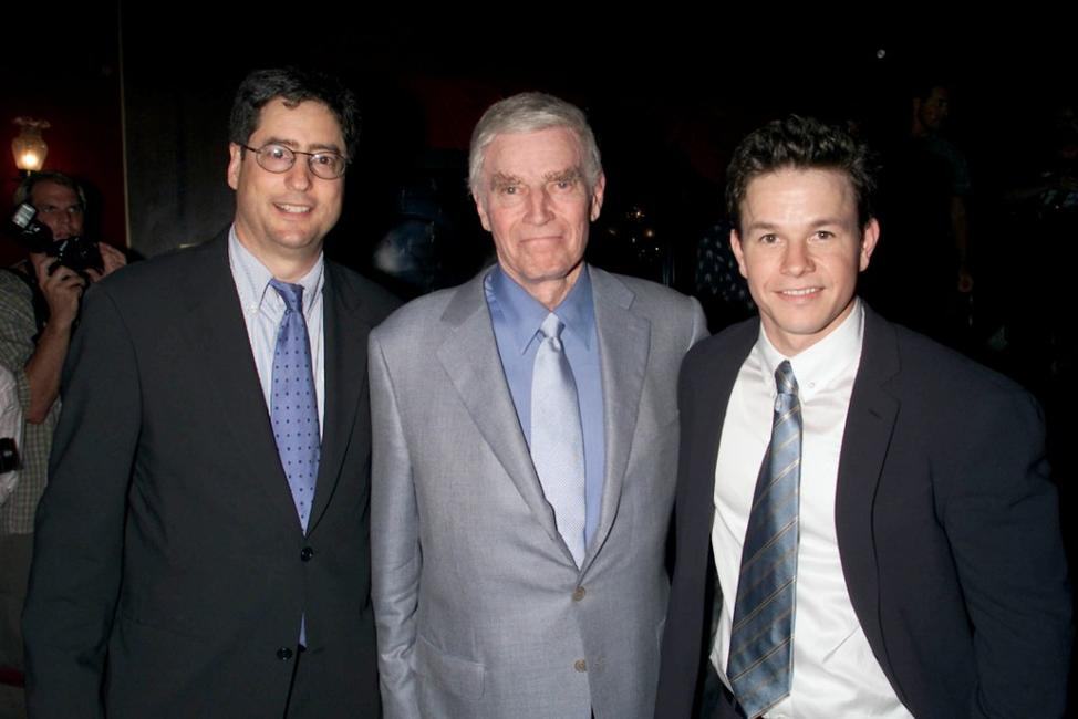 Charlton Heston, Tom Rothman and Mark Wahlberg at the premiere of
