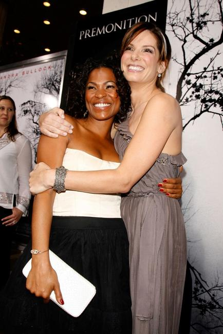 Sandra Bullock and Nia Long at the premiere of
