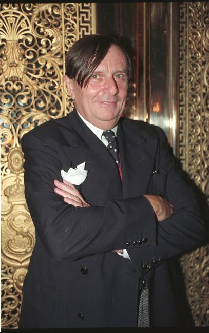 Barry Humphries at the cocktail party to announce his new show.