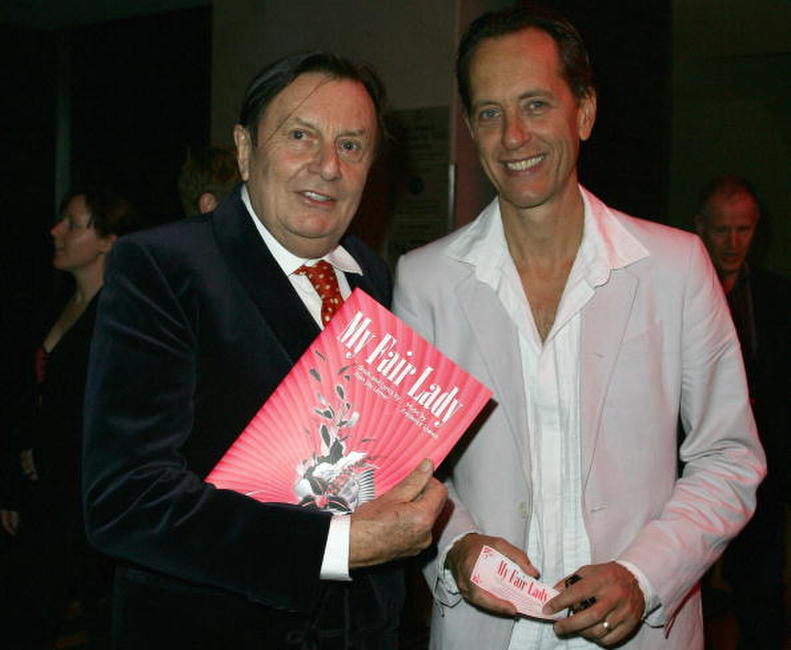 Barry Humphries and Richard E. Grant at the opening night of the music production of