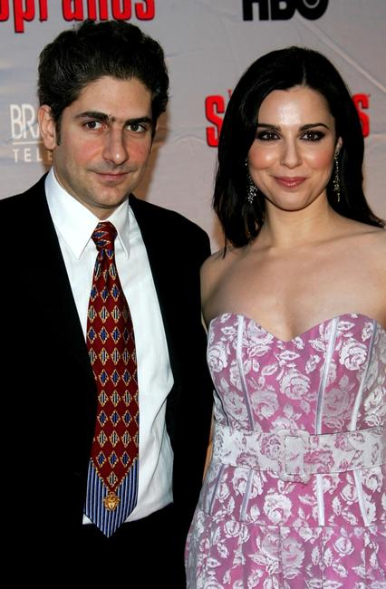 Michael Imperioli and Cara Buono at the premiere of