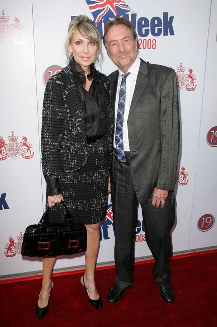 Tania Kosevich and Eric Idle at the launch party of BritWeek.
