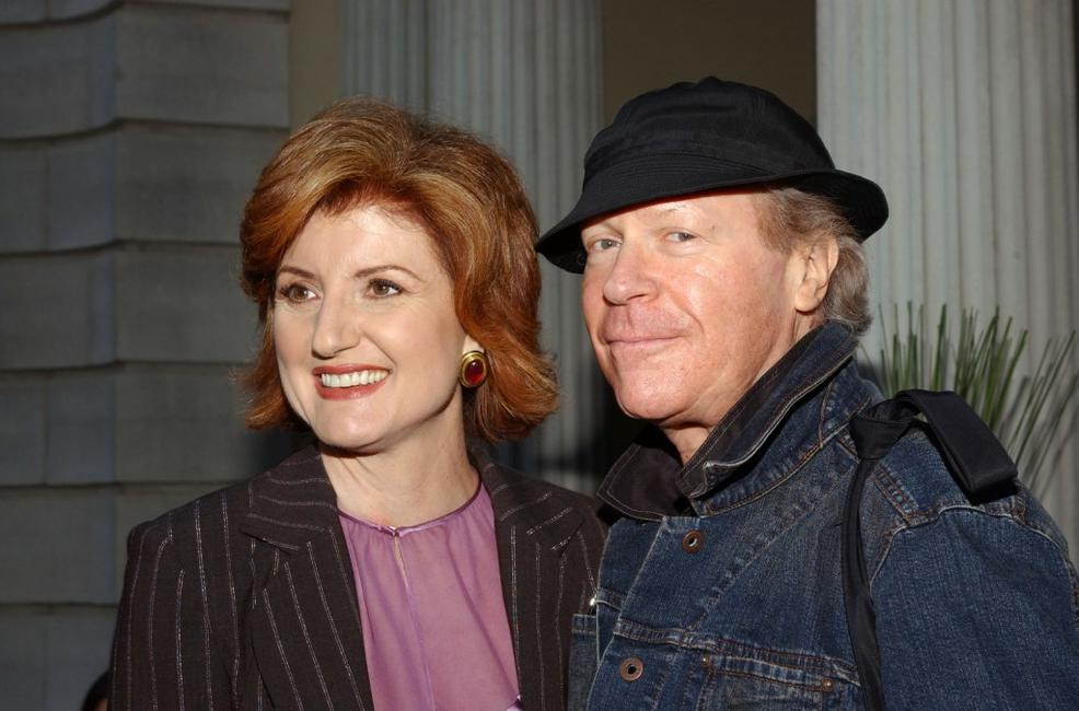 Arianna Huffington and Henry Jaglom at the launch party of