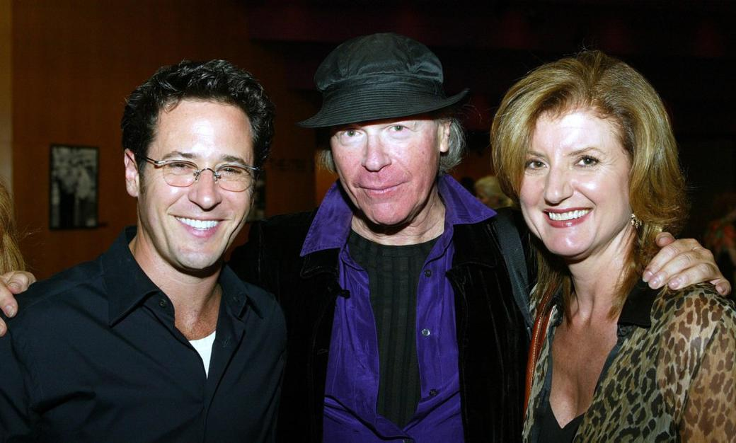 Rob Morrow, Henry Jaglom and Arianna Huffington at the after party of the premiere of